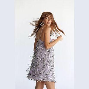 NWOT Free People Queen of Hearts Sequon Mini Dress